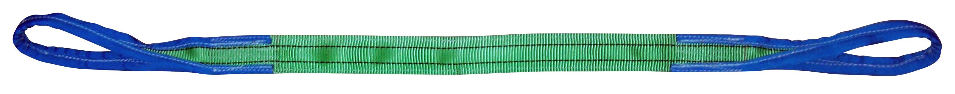 Hebeband aus Polyester 2-lagig mit vollverstärkten Schlaufen Tragfähigkeit 2 Tonnen