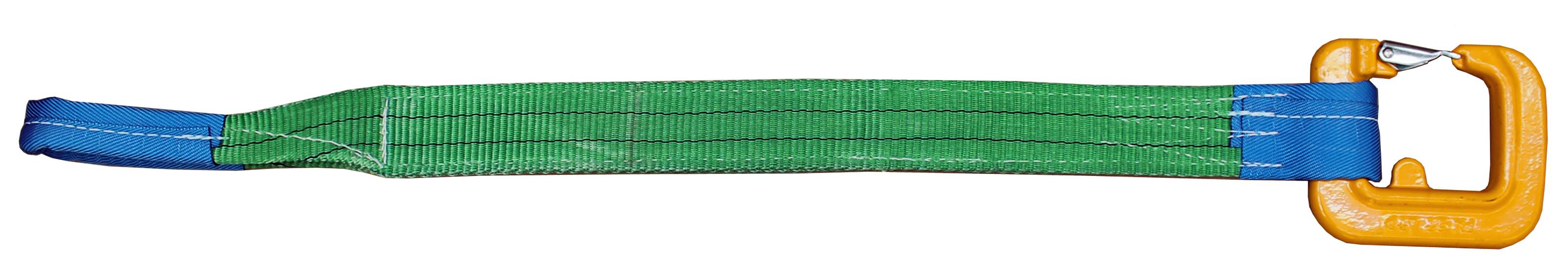 Hebeband 2-lagig  mit Schlaufe + C-Haken  Tragfähigkeit 2 Tonnen