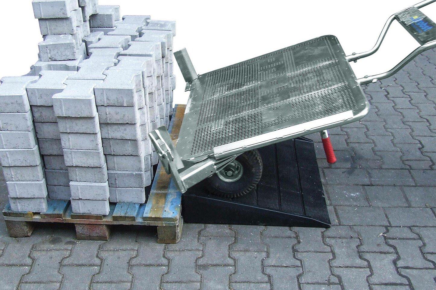 Auffahrrampe für verstellbarer Fertiger-Transportwagen VTK-V