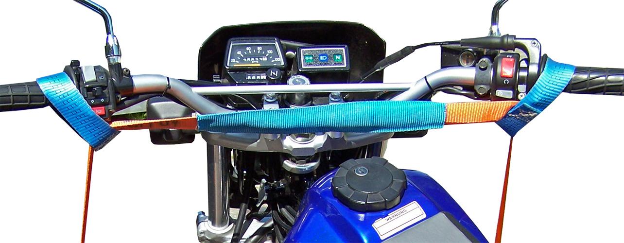 Spanngurt für Motorrad Sicherung vorn