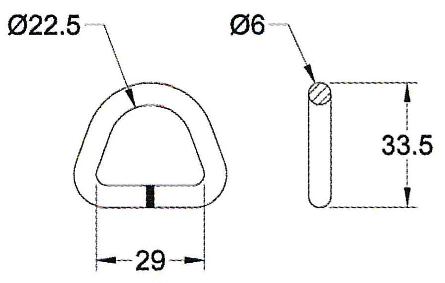 D-Ring für Bandbreite 25 mm