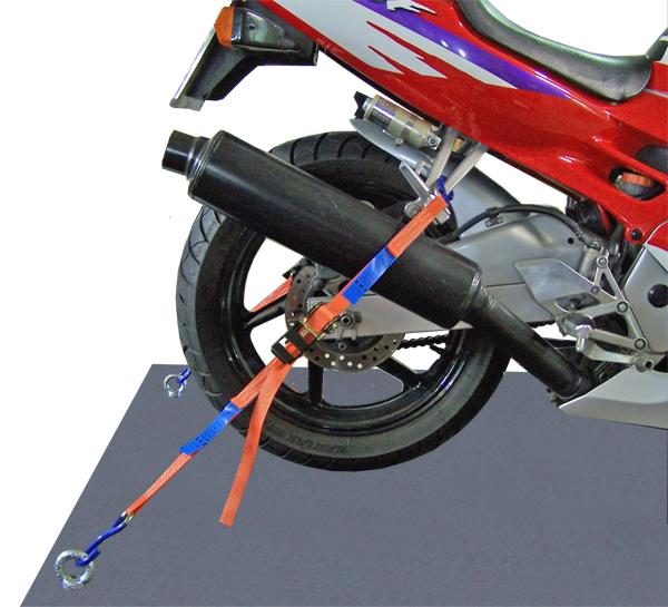 Spanngurt für Motorradsicherung hinten