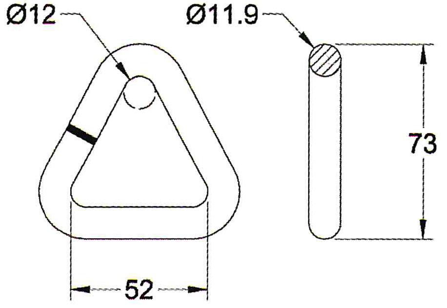 D-Ring für Bandbreite 50 mm