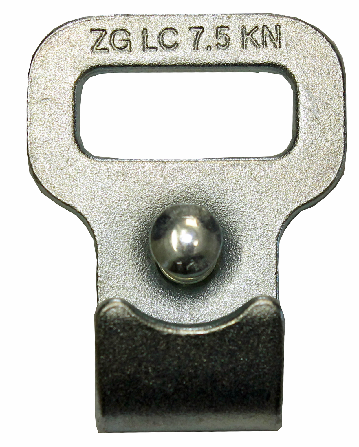 Flachhaken mit Sicherung 25 mm